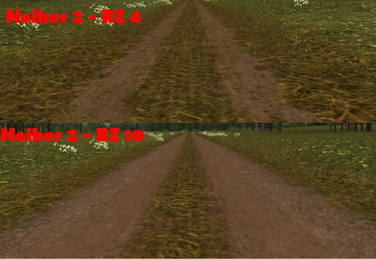 Noiker 2 měnící se textura trati