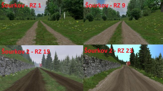 Šourkov 1 a 2 - měnící se textura trati